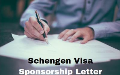 Schengen Visa Sponsorship Letter – Sample Letter Template