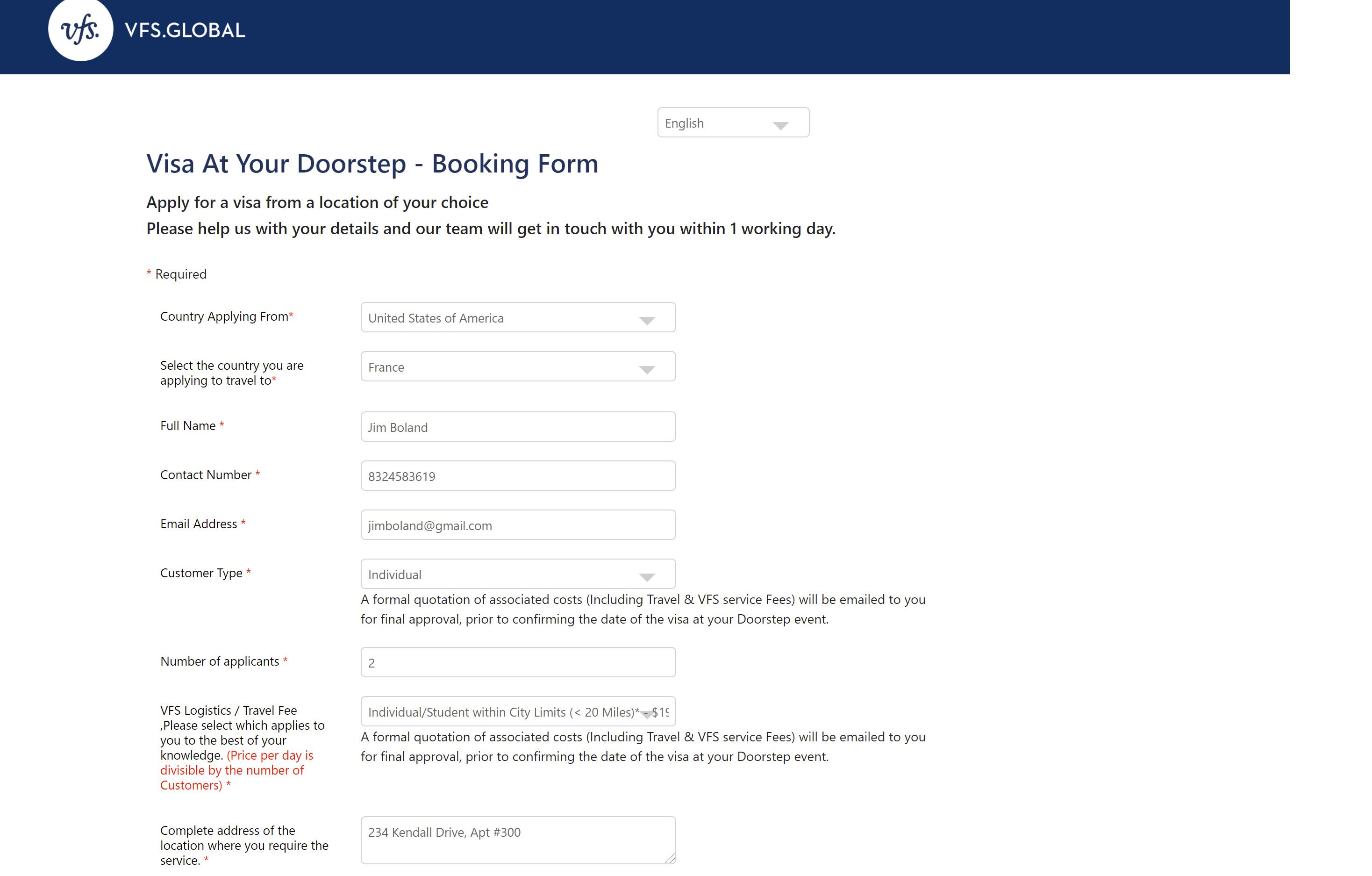 Schengen-Visa-Doorstep-Service-Appoinment-Form